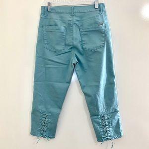 D2G Diane Gilman Mint Ankle Pants 10P